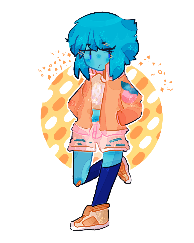 a peach summer au!Lapis Lazuli that i had in my mind its summer time now and its peach season!! i had ideas from turning the lineart into an adopt but lapis lazuli came into my mind when drawing th...