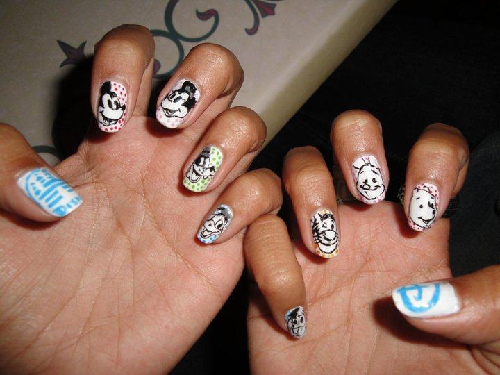 Character Design Nails : Disney nails by janamajiggy on deviantart