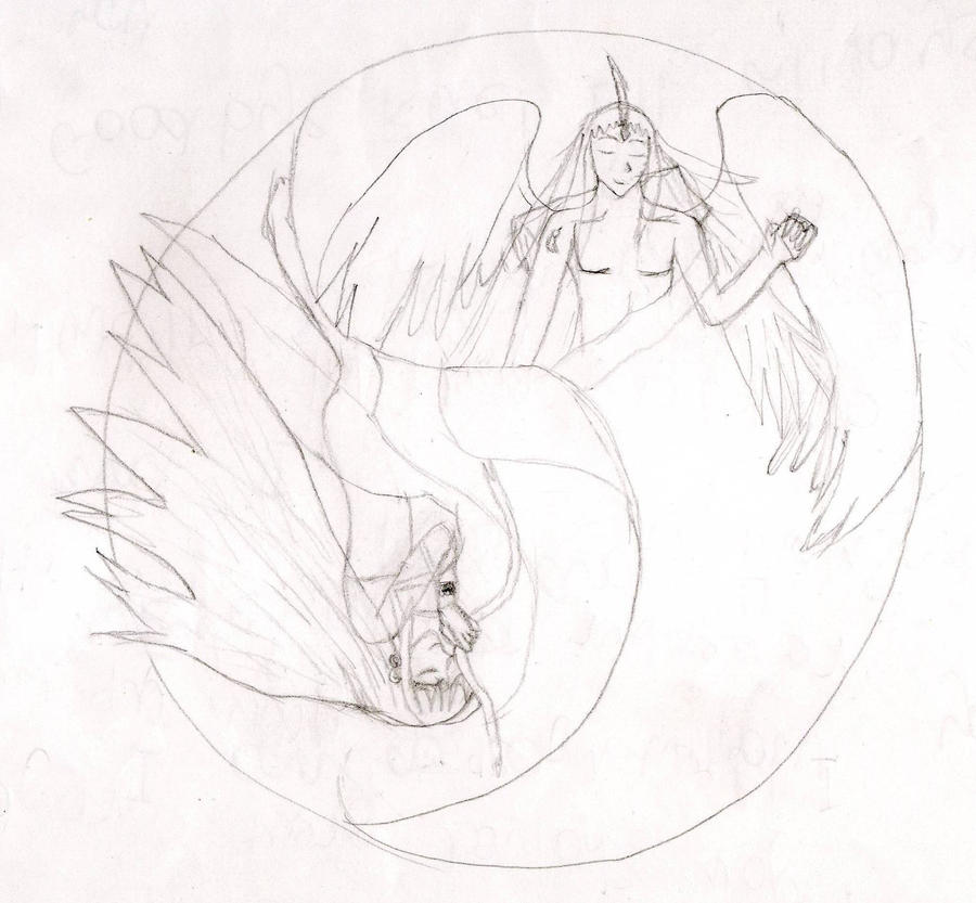 Rue and Mint as Yin and Yang by Relic-Angel