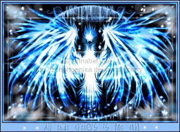 All that glitters: Ice Phoenix by zenphoenixa