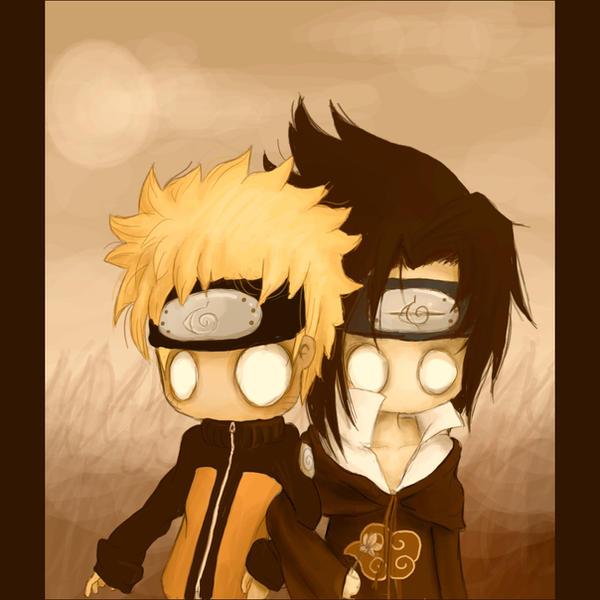 Sasuke and Naruto by gothic-anomie