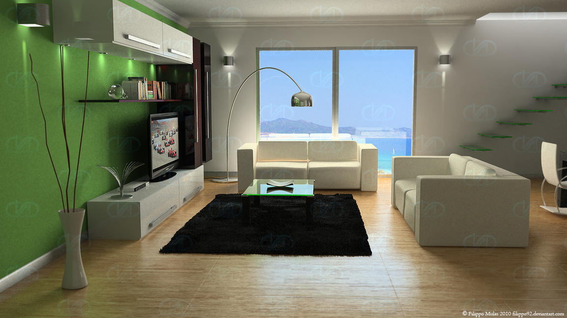 Vray modern lounge 1 by filippo92 on deviantart - Moderne lounge kroonluchter ...
