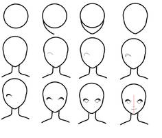 How to draw an anime face? by dixiefrog