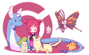 Kristan's Pokemon team by dixiefrog