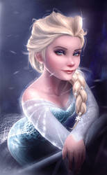 Elsa (Disney's Frozen) Ice-olated by Carlo-Marcelo