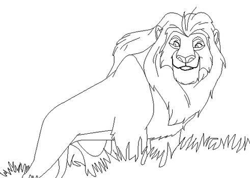 Mufasa Smile Base by IceNinjaMonkey