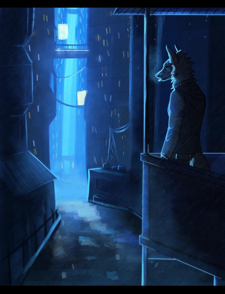 Rainy city by DeadRussianSoul