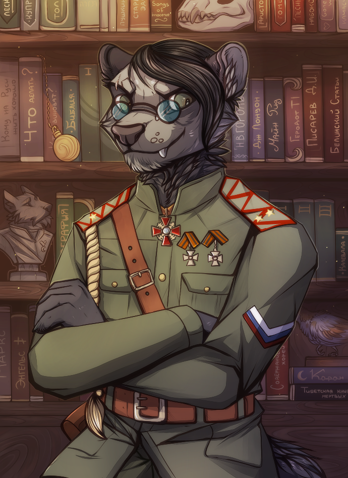 Ferret and his books by DeadRussianSoul