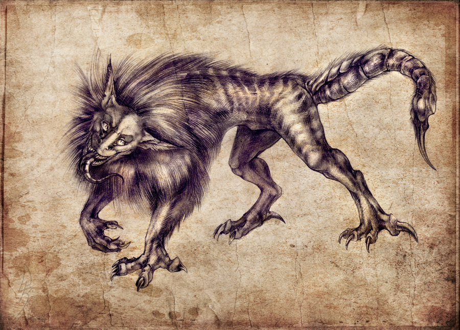 Criatura: Mantícoras Manticore_by_niarkan-d4qdpfz