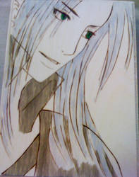 Sephiroth with green eyes