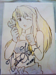 Winry Autographed for Charity