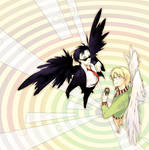 Good omens - Devil and Angel