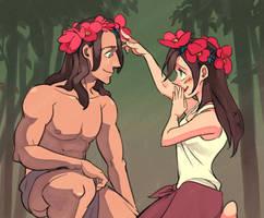 Tarzan and Jane by zzigae