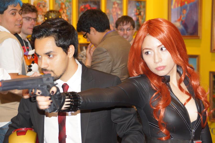 NYCC 2012 - Black Widow - Tony Starks by kamau123