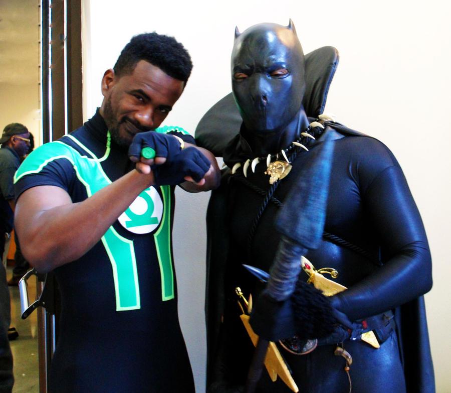 4th Annual BCBF Green Lantern Black Panther by kamau123