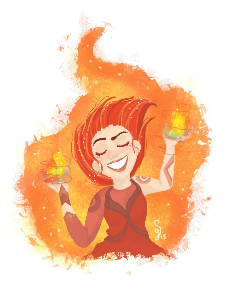 Firebender girl by Hayashii-san