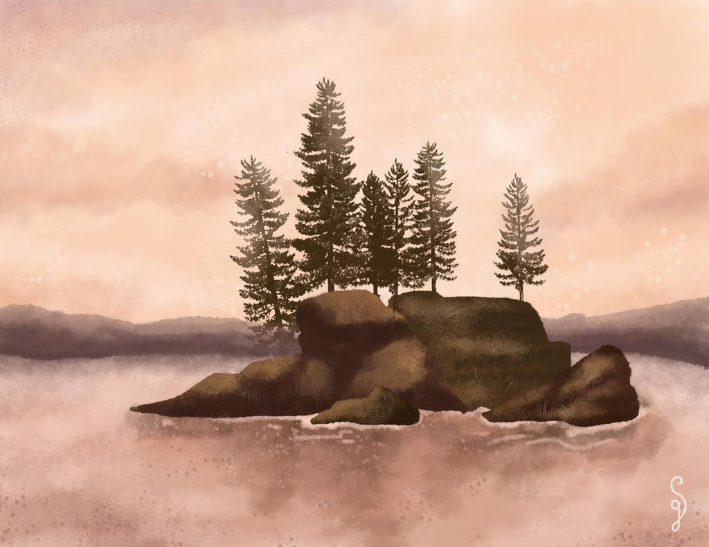 Peaceful lake by Hayashii-san
