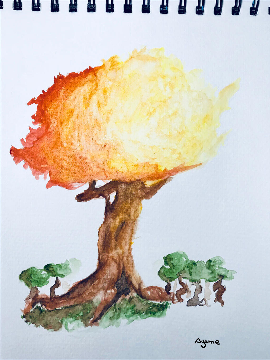 watercolor tree by AyameDreemurr