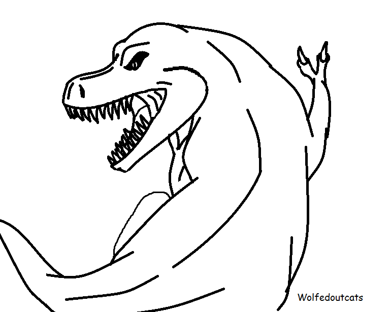 Line Drawing Dinosaur : Dinosaur lineart by wolfedoutcats on deviantart