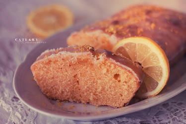 Lemon Cake by Catlaxy