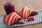 Raspberry Croissants by Catlaxy