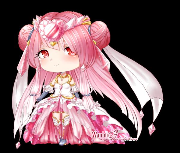 CM - Custom mega-diancie Gijinka by Wanini