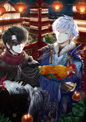 Happy rooster year by Wanini