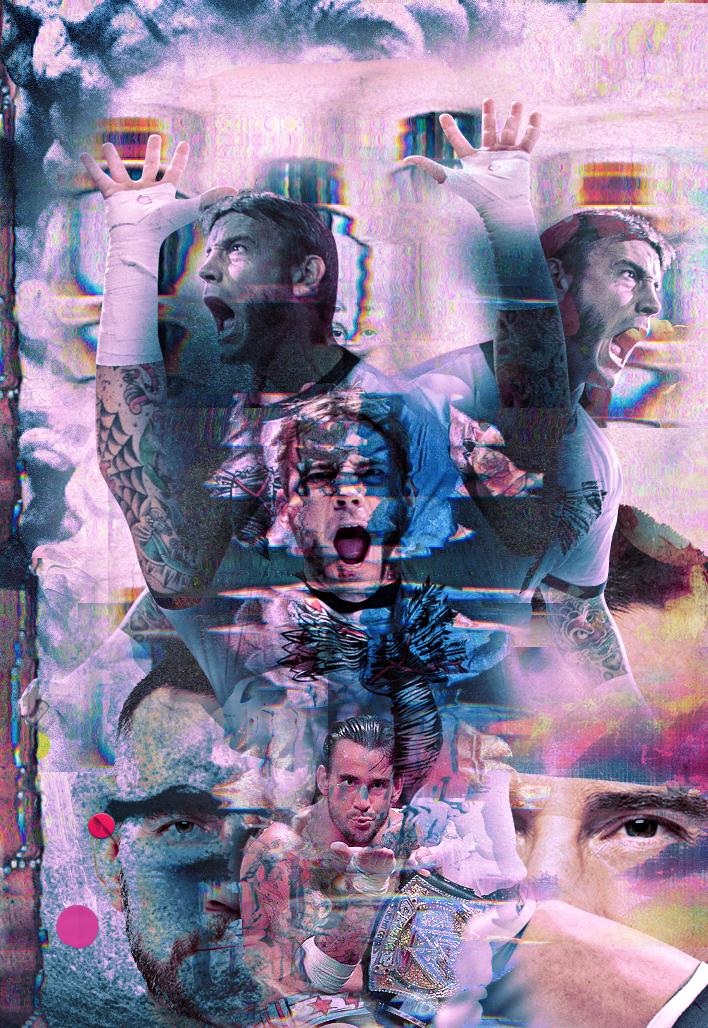 CM Punk - Pink Project by GherdezGFX