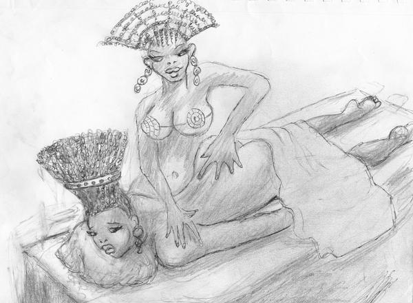 Halima massage by werewolfwriter