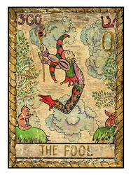 0 The old tarot card. The Fool by Samiramay