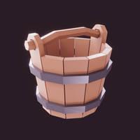 Lowpoly bucket (gamedev) by romanpapush