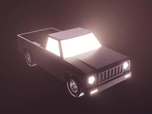 Lowpoly Pickup Truck (gamedev)