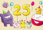 Pokemon 25th! by xxlPanda