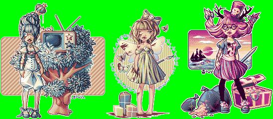 Old pixel dolls