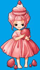 Strawberry Macaron by BlueCandyCane