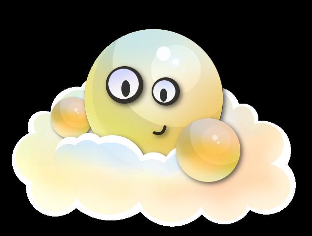 Shiny Cloud Emoticon