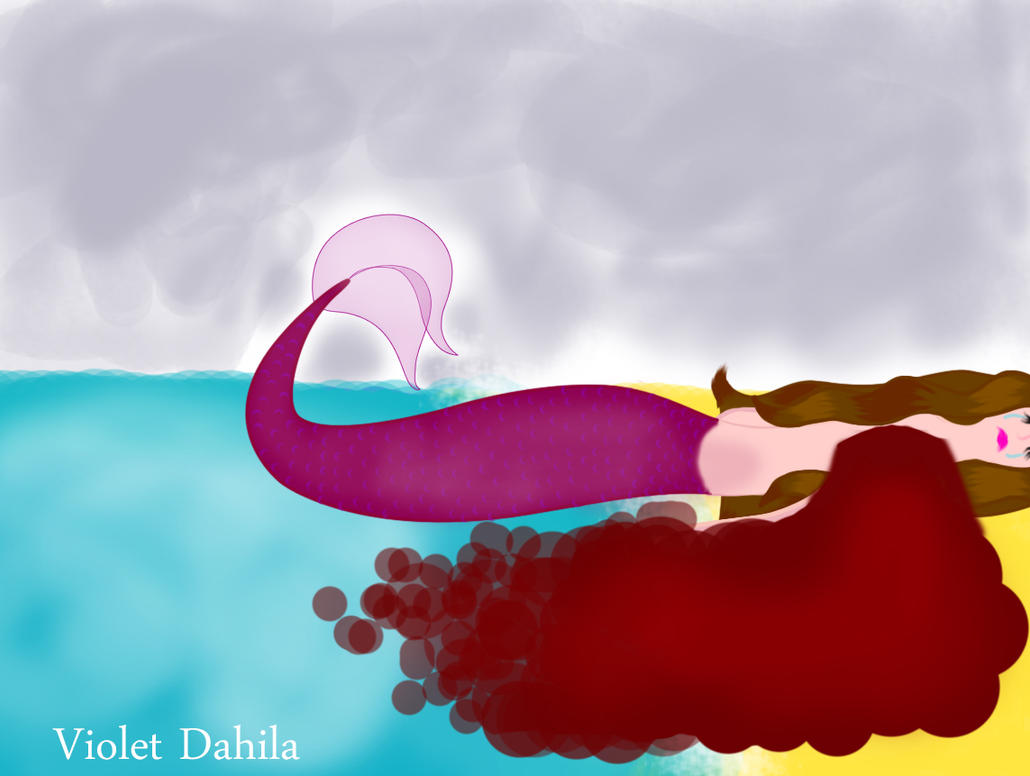 The poor little mermaid by Violetdahila