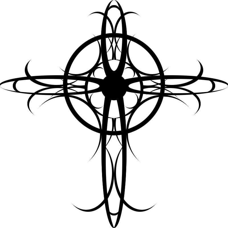 Tribal Art Tattoos Cross Tribal Tattoo by