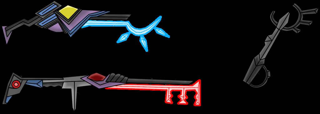 Keyblade redesigns by Vivi-Sinclair