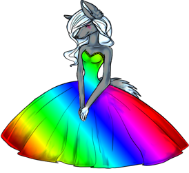 Crazy Rainbow Dress left by Darklightning001