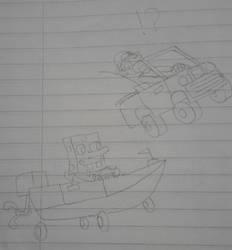 Spongebob Boat-O-Cross / Hill Climb Racing X-over by ED-127