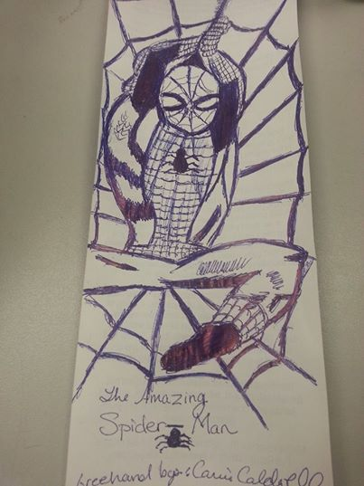 Spiderman Drawing In Pen by ScoopGirl