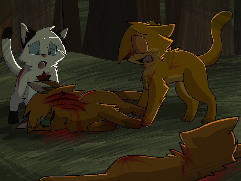 Russetfur's Death -Warriors- by PikaPlatinum