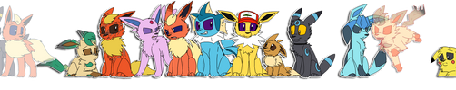The Whole Family -Pokemon- by PikaPlatinum