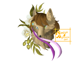 My old winged wolf persona/oc by MoonlightNight3are