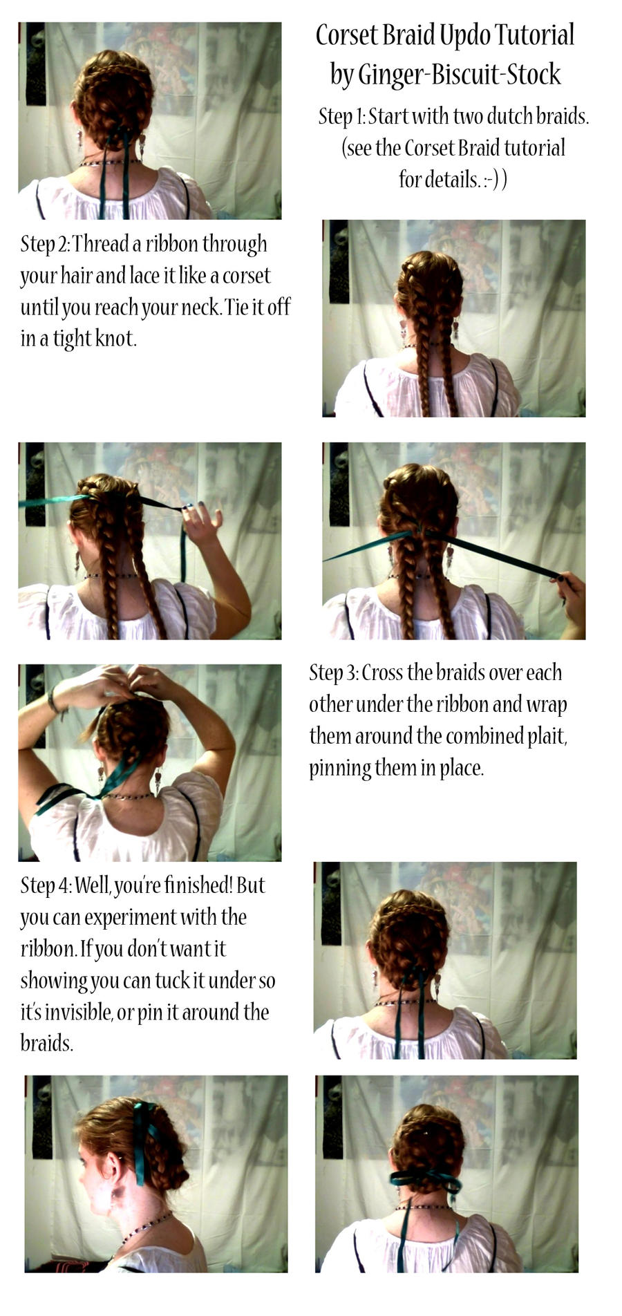 Corset Braid Updo Tutorial by ~Ginger-Biscuit-Stock on deviantART