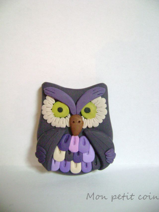 Violet owl by monpetitcoin