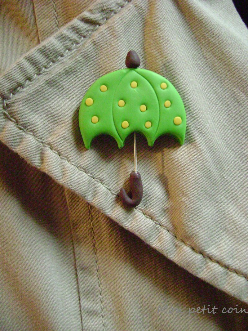 Polymer clay umbrella by monpetitcoin