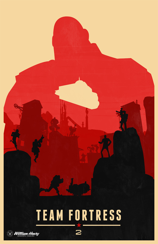 Team Fortress 2 The Heavy poster by billpyle