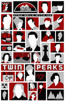 Twin Peaks variant poster by billpyle